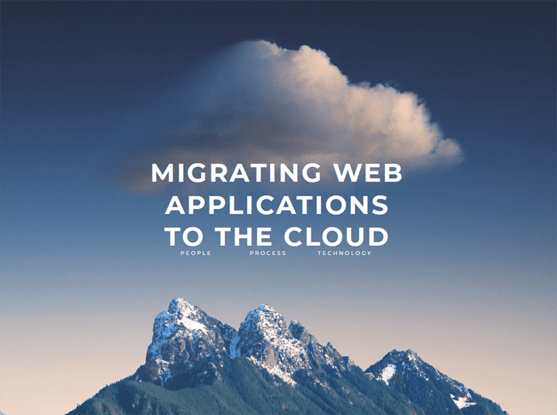 Webapper: Cloud Migration Strategy - Migrating Web Applications to the Cloud